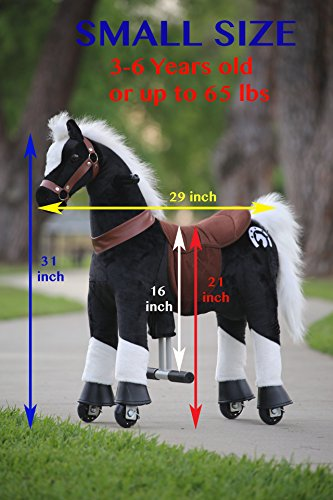 (Medallion - My Walking Horse Pony for Children 3 to 6 Years Old or Up to 65 Pounds (Color SMALL BLACK HORSE) For Boy and Girl NO NEED BATTERIES Good exercise)