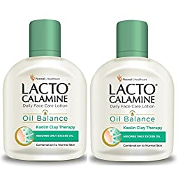 Lacto Calamine Daily Face Care Lotion, Oil Balance for Combination Skin, 120ml (Pack of 2)