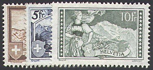 Goldhahn Schweiz Nr. Nr. Nr. 226-228 postfrisch