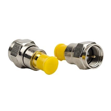 Pack de 2 adaptadores coaxiales RF SMA hembra a F macho con conector de pin,