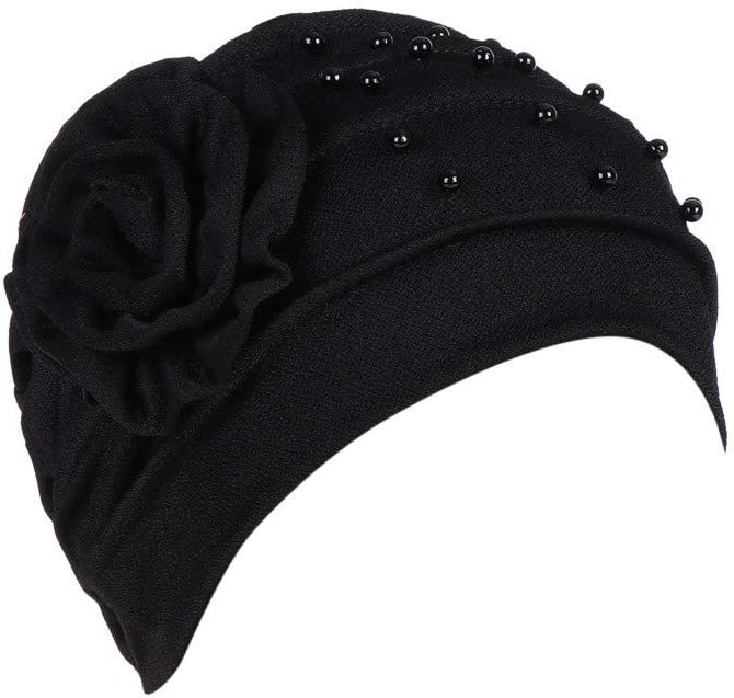 Hat Women Turban Hat Hairnet Chemo Caps Flower Bonnet Bow Cancer Chemo Hat Beanie Scarf Turban Head Wrap
