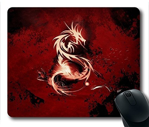 Price comparison product image (Precision lock edge mouse pad) Mousepad Blood Red Dragon Rubber Neoprene Rubber Non-slip Personality Rectangle Desktop Mousepad Desings Gaming Mouse Pad Laptop Mousepad made by Yanteng