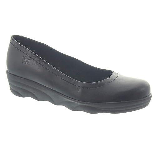 91232de61 Yokono - Ladies Mist 012 Wedge Shoes in Black  Amazon.co.uk  Shoes ...