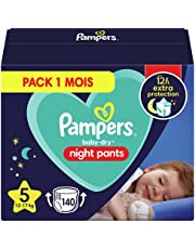Pampers Baby-Dry Night Luierbroek Maat 5, 140 Luiers 12kg-17kg, Pampers Night Pants Bieden Extra Bescherming De Hele Nacht Lang