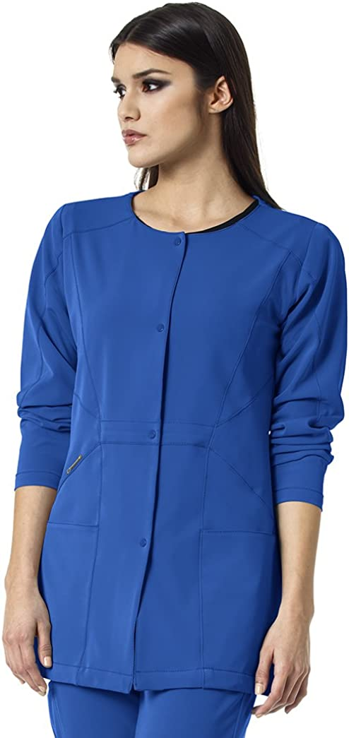 WonderWink Women's Hp Snap Front Scrub Jacket