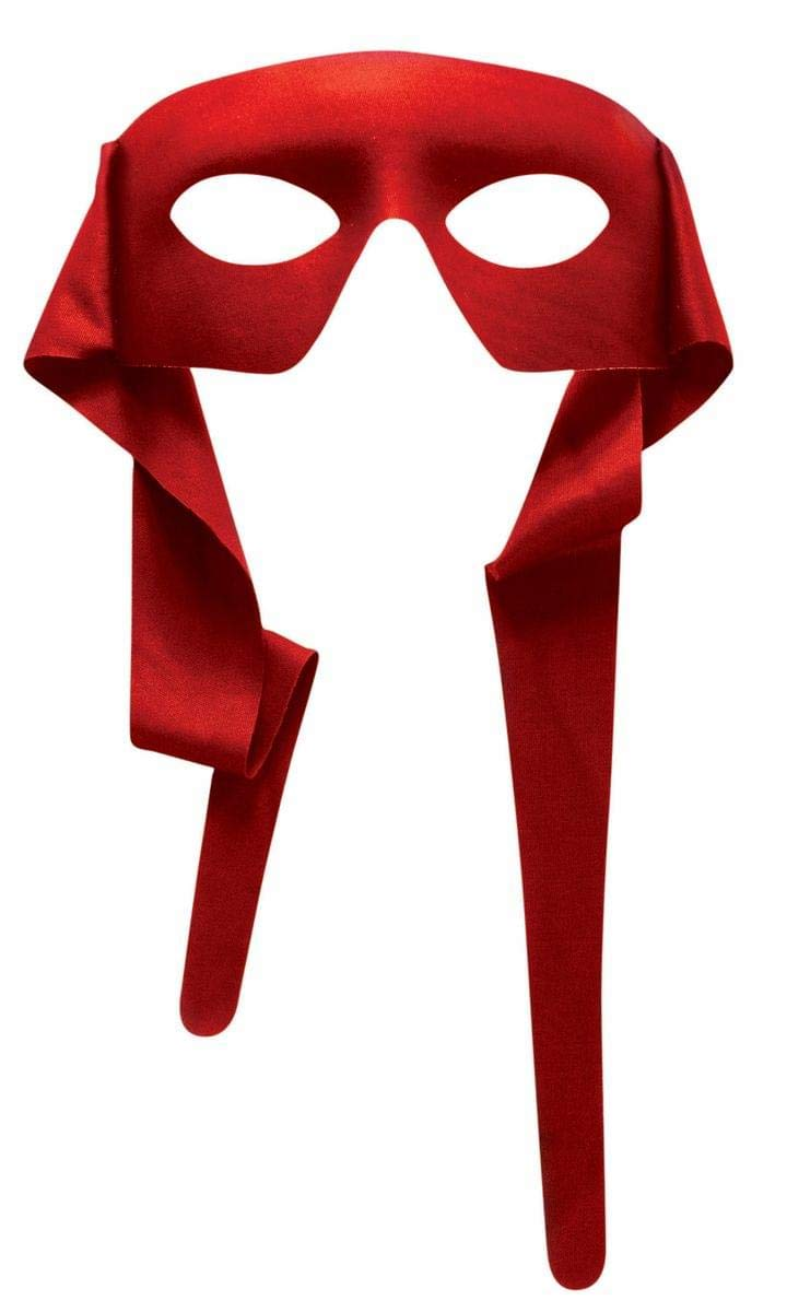Forum Novelties Mens Red Masked Man with Ties Venetian Mardi Gras Mask Costume Accessory