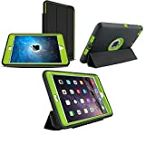 5-Piece Ultimate Protection iPad Pro (2015) 12.9 Case With Built-In Screen Protector | Drop Protection | Water, Dust, & Scratch Resistant (Lime Green)