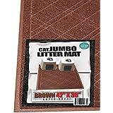 "iPrimio - Cat Litter Mat with Plaid Design - Phthalate & BPP Free - Jumbo (42""x 36"") - Brown"