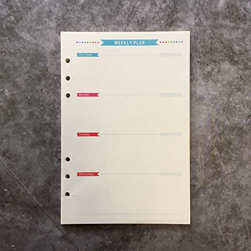 A5 Paper Refill- Weekly Planner