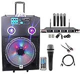 NYC Acoustics Powered 15'' Karaoke Machine/System 4 ipad/iphone/Android/Laptop/TV
