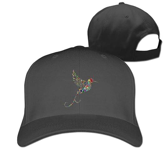 519042cffbe Color Wave Point Hummingbird 100% Cotton Baseball Cap Plain Low Profile Hat  Fashion Trucker Twill Mesh at Amazon Men s Clothing store