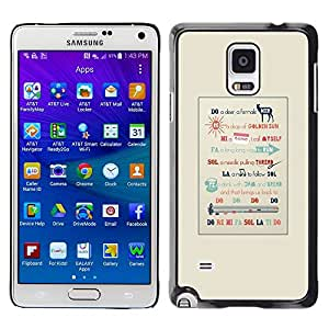 LECELL--Funda protectora / Cubierta / Piel For Samsung Galaxy Note 4 SM-N910 -- Music Quote Artist Singer Pianist --