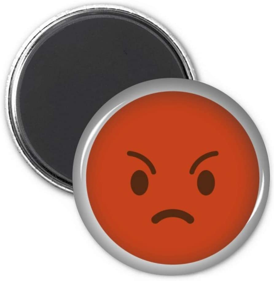 Angry Red Cute Online Chat Happy Refrigerator Magnet Sticker Decoration Badge Gift