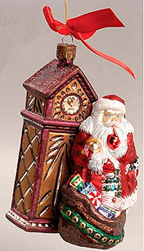 Waterford Holiday Heirlooms 2003 1st Edition Almost Midnight Santa Ornament