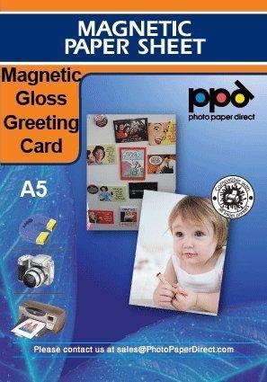 PPD A5 Magnetico saluto/invito carta lucida - 10 pezzi + 10 buste Photo Paper Direct PPD-37-ENV-10