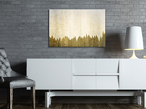 Print Abstract Golden Forest