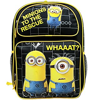 "Boys Despicable Me Minions 16/"" Backpack EVA Molded Yellow"