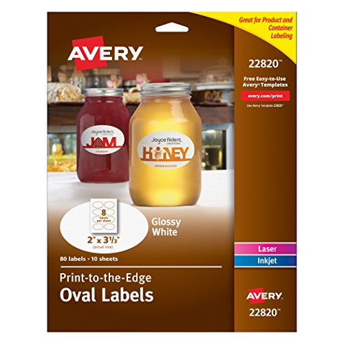 Avery Print - To - The - Edge Oval Labels, 2 x (Oval Label)