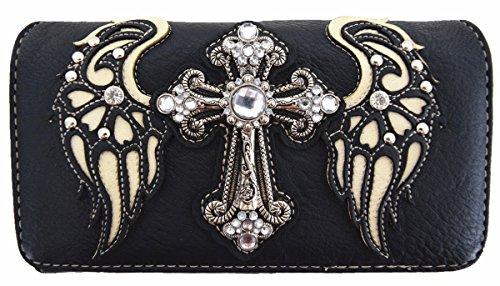 Artificial Carry Diamante Las Del Cruzado De Bedding Monedero black Ocultado Alas Bolso Occidental Blancho Wallet 7ZPAwx