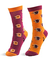 Peanut Butter & Jelly Medium/Large Unisex Complementary Mismatched Socks