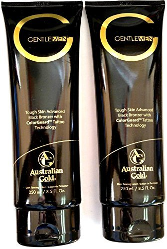 Lot of 2 Australian Gold G Gentlemen Black Bronzer Tanning Bed Lotion for Men