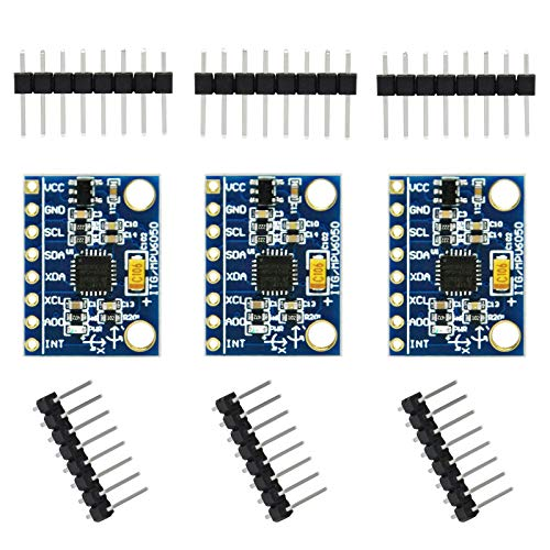 Gikfun 6DOF MPU-6050 3 Axis Accelerometer Gyroscope Sensor Module 16Bit AD Converter Data Output IIC I2C DIY Kit for Arduino (Pack of 3pcs) EK1091x3