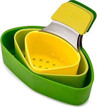 Joseph Joseph Nest Steam Stackable Steamer Basket Set with Three Compartments (3 Piece), One Size, Green