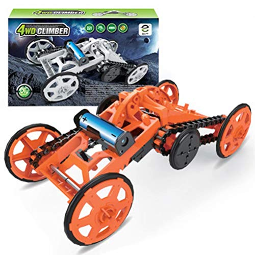 WAQIAGO STEM 4WD Electric Mechanical Assembly Gift Toys Kit,Intro to Engineering, DIY Climbing Vehicle, Circuit Building Projects for Adults,Children DIY Gift Age 10
