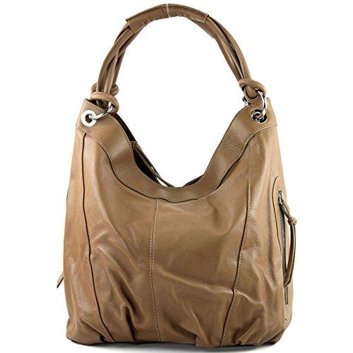 Bag Women's Toffee Choice cm ModaModa Leather Nappa Large 42x16x30 Shoulder Italian Z18 Colour Brown S1ZZxqa