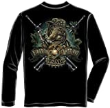 US Marine Corps Long Sleeve T-Shirts, 100% Cotton Casual Mens Shirts, Show Your Pride With Our Devil Dog First in Marine Corps Unisex Long Sleeve Shirts for Men or Women (Black,Large)