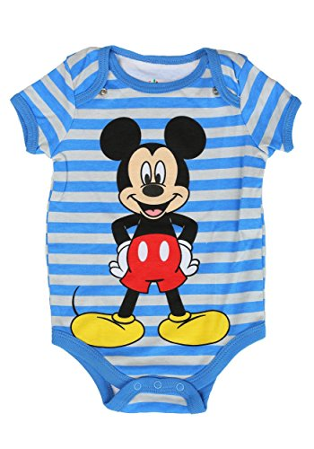 [Disney Baby-Boys 1 Mickey Creeper and 2 Bibs That Attaches To The Creeper, Silver, 3-6 Months (Pack of] (Monsters Inc Onesie)