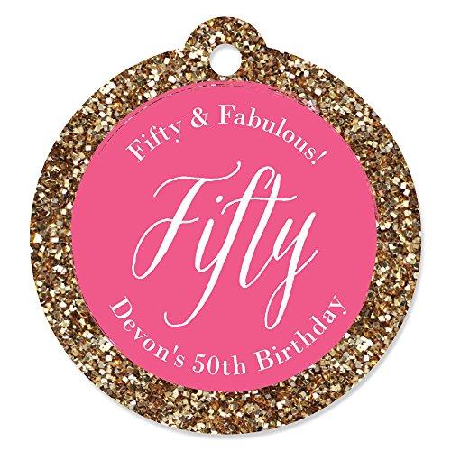 Custom Chic 50th Birthday Personalized
