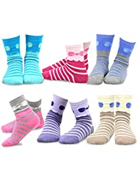 TeeHee (Naartjie) Kids Girls Cotton Basic Crew Socks 6 Pair Pack