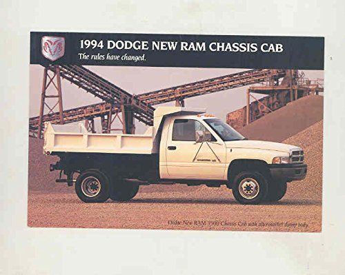 1994 Dodge Ram Chassis & Cab Dump Truck Truck Factory Postcard