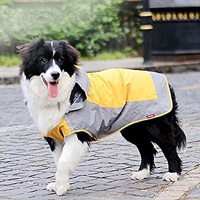 i'Pet® Dog Hooded Rain Slicker Waterproof Jacket Dog Rain Poncho Rain Coat for Medium to Large Dogs for Golden Retriever, Samoyed, Akita, Labrador Retriever, Brittany Spaniel, Huskies, Bulldog, Collie, Schnauzer, Springer Spaniel Breeds by i'Pet