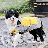i'Pet® Dog Hooded Rain Slicker Waterproof Jacket Dog Rain Poncho Rain Coat for Medium to Large Dogs for Golden Retriever, Samoyed, Akita, Labrador Retriever, Brittany Spaniel, Huskies, Bulldog, Collie, Schnauzer, Springer Spaniel Breeds (12, Orange)