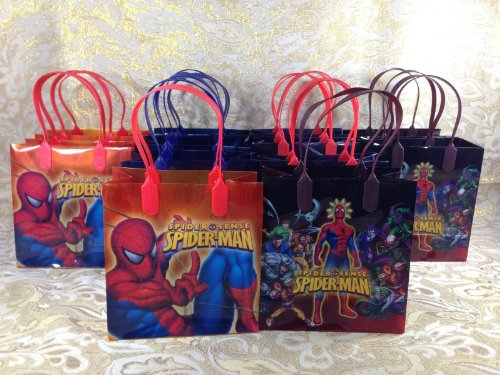 24 Piece Marvel Spiderman Goodie Bags Party Favor Bags Gift Bags ()