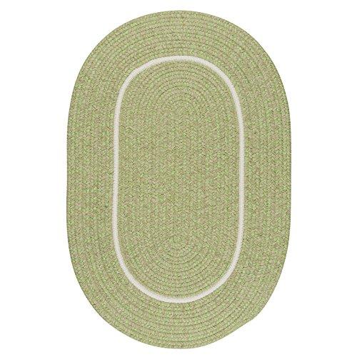 Silhouette Rug, 3 by 5-Feet, Celery