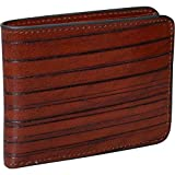 Jack Georges Monserrate Collection Bi-Fold Leather Wallet in Cognac