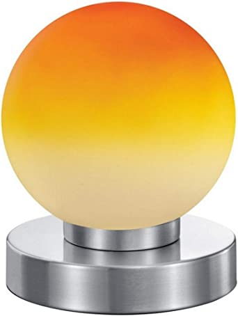Tischleuchte Touchtronic Nachttisch Büro Deko Kugel gelb orange 2 Stück .#6283