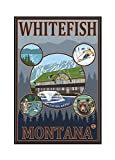 Whitefish, Montana (12x18 Framed Gallery Wrapped Stretched Canvas)