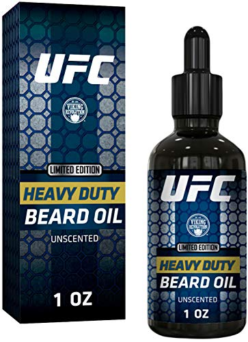 UFC Heavy Duty Beard Oil for Men – All Natural Unscented Organic Argan, Jojoba Oils & Castor Oils – Softens, Smooths & Strengthens Beard Growth – Grooming Beard Conditioner