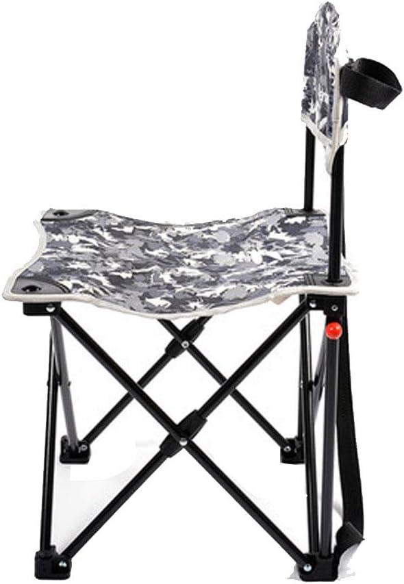 Silla plegable para exteriores - Silla plegable portátil con respaldo pequeño para pesca de caballos, Tarnfarbe (Kinder)