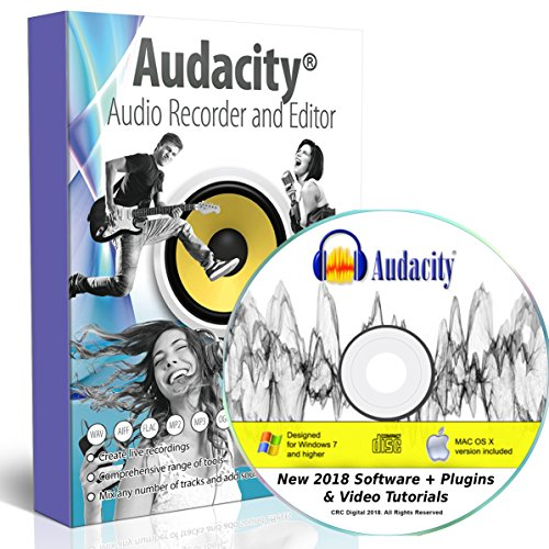 Price comparison product image Audacity Audio Recording & Editing Software - Professional Sound Recorder Software for Windows PC & Mac - Digital Player for Common files: WAV,  AIFF,  MP3,  OGG [Premium Edition]