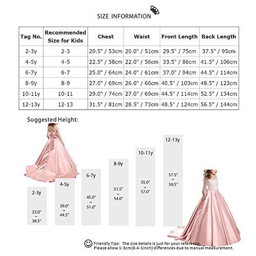 0bf508e0268 Demoiselle Princesse Mariage Ans De Baptême En 13 2 Habillée Florale Fille  Cérémonie Soirée Fête Longue Costume Multi ...