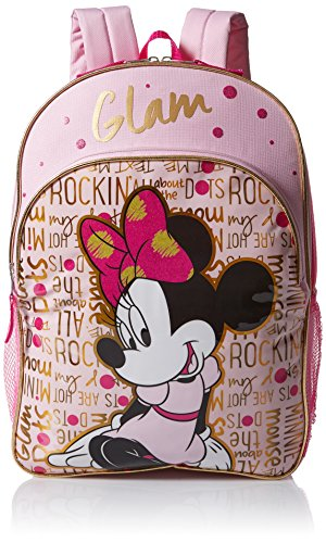 Disney Girls' Minnie Mouse Glam Backpack, Pink