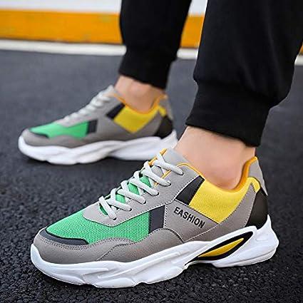 NANXIEHO Zapatos para Hombres Tendencia Aumentar Deporte Zapatos de Ocio Adolescentes Zapatillas de Moda Harajuku Zapatos