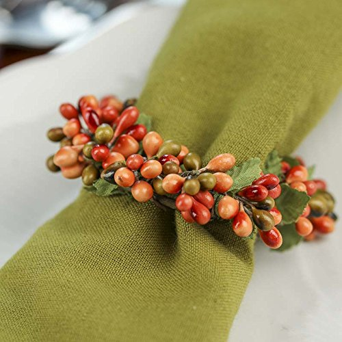 Factory Direct Craft Group of 4 Plump Autumn Pip Berry Miniature Candle or Napkin Rings by Factory Direct Craft (Image #1)