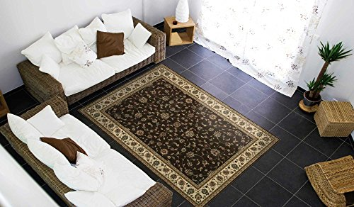 Nourison Persian Arts (BD04) Chocolate Octagon Area Rug, 7-Feet 9-Inches by 7-Feet 9-Inches (7'9
