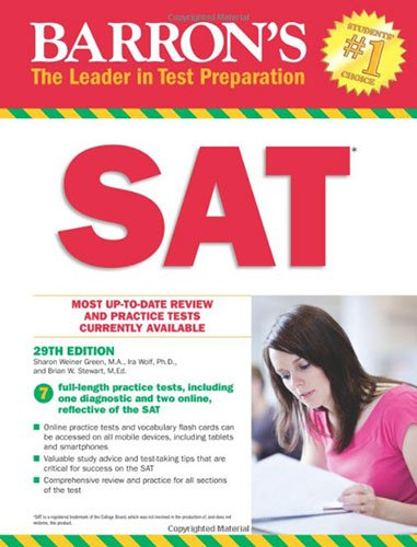 Barron's SAT, 29th Edition: with Bonus Online Tests cover